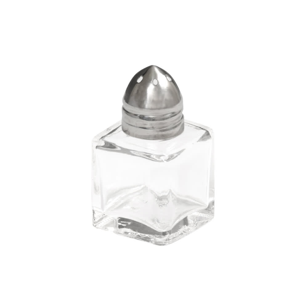 "Vollrath 710 2"" Salt/Pepper Shaker w/ Metal Lid, Square"