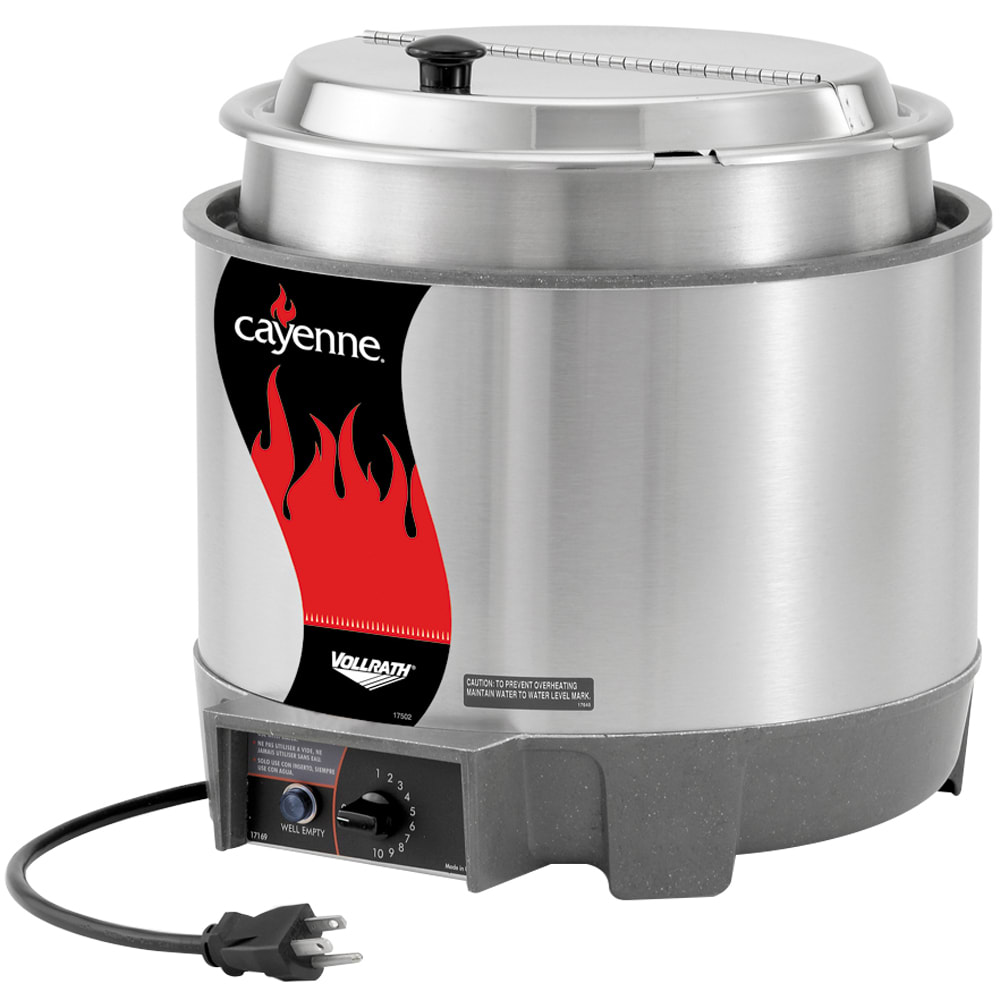 Vollrath 72018 7-qt Countertop Soup Warmer w/ Thermostatic Controls, 120v