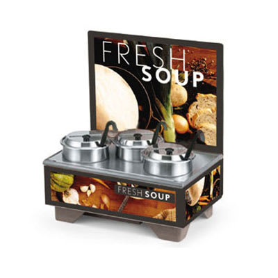 Vollrath 720201102 Full-Size  Soup Merchandiser Base - Tuscan, Menu Board, 4 qt Accessories 120v