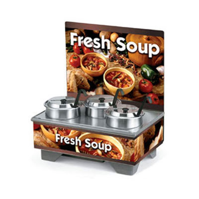 Vollrath 720201103 Full-Size  Soup Merchandiser Base - Country Kitchen, Menu Board, 4-qt Accessories 120v
