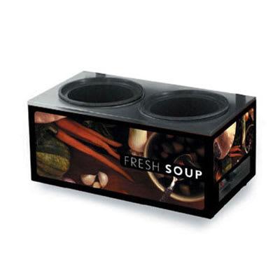 Vollrath 7203002 Twin 7-1/4-qt Well Soup Merchandiser Base - Tuscan 120v