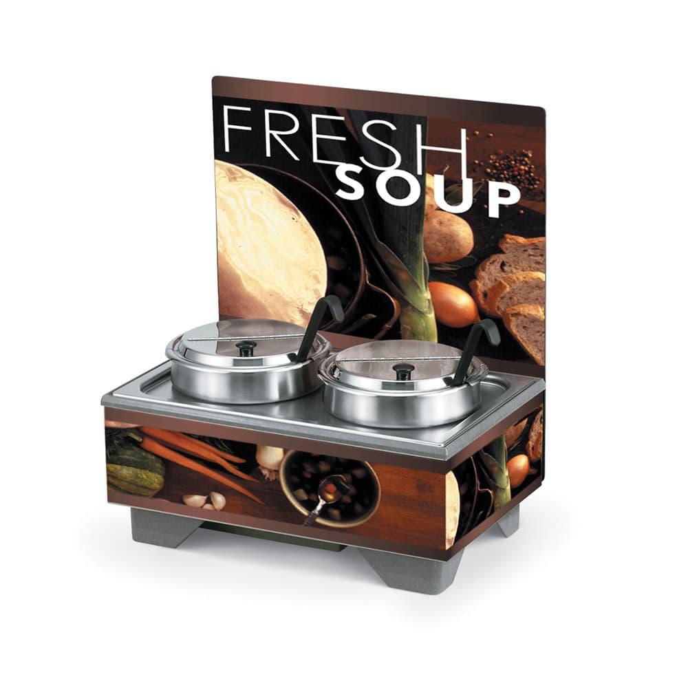 Vollrath 7203102 (2) 7.25 qt Countertop Soup Warmer w/ Thermostatic Controls, 120v