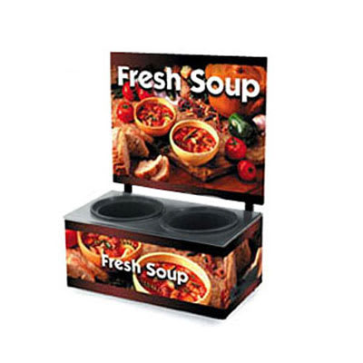 Vollrath 7203103 (2) 7.25 qt Countertop Soup Warmer w/ Thermostatic Controls, 120v