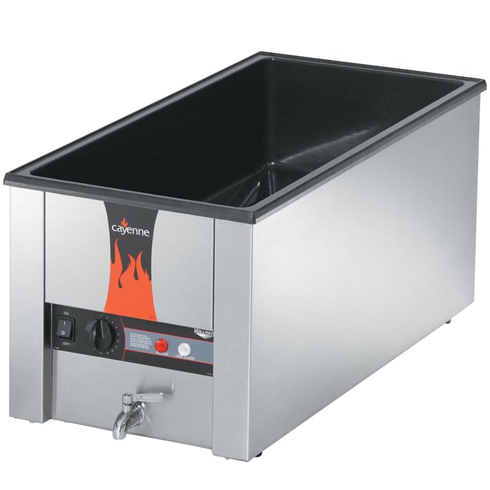 Vollrath 72056 Cayenne 4/3 Counter Warmer w/ 2-Dome Element, 1600-Watt, Export