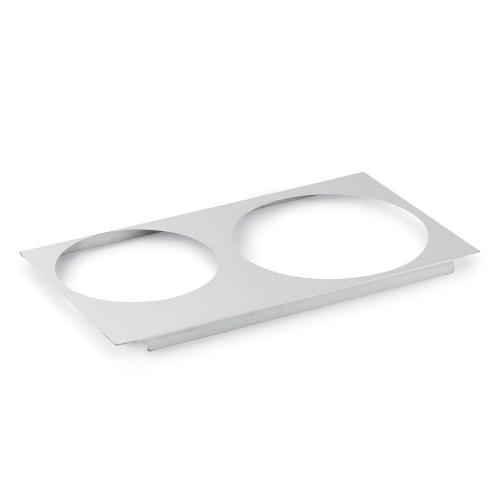 "Vollrath 72227 Adaptor Plate - Full-Size, (1)8 3/8"" (1)10 3/8"" Inset Hole, Stainless"