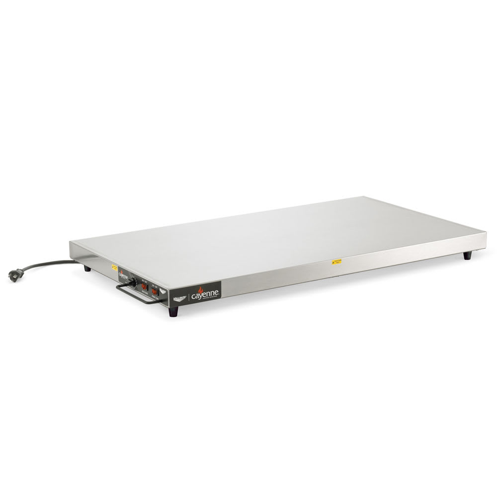 "Vollrath 7277024 24"" Cayenne Heated Shelf - Left-Aligned, Thermostat, Stainless/Aluminum 120v"
