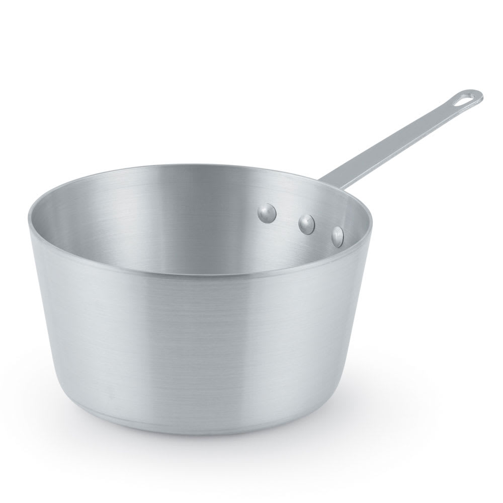 Vollrath 7345 5.5 qt Aluminum Saucepan w/ Solid Metal Handle