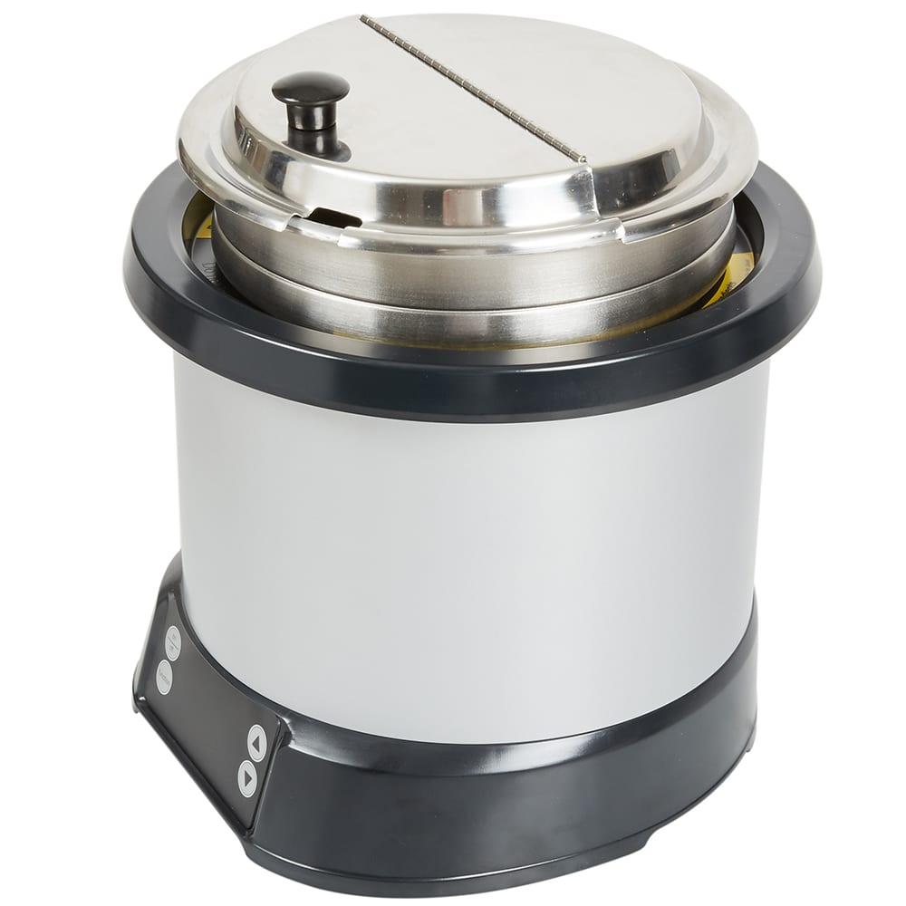 Vollrath 7470110 7-qt Induction Soup Rethermalizer - LED Control, Natural/Black 120v
