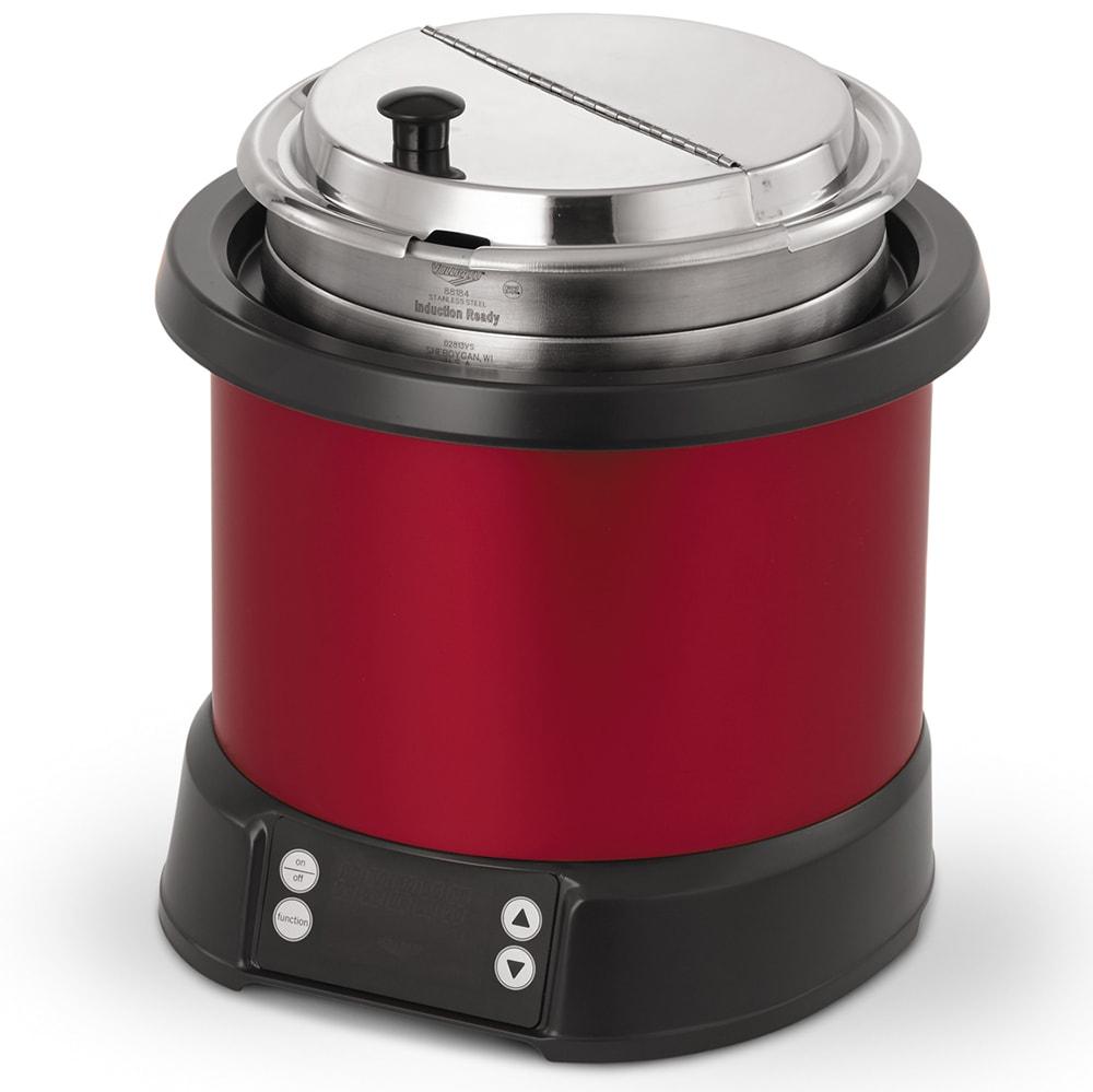 Vollrath 7470140 7-qt Induction Soup Rethermalizer - LED Control, Red/Black 120v