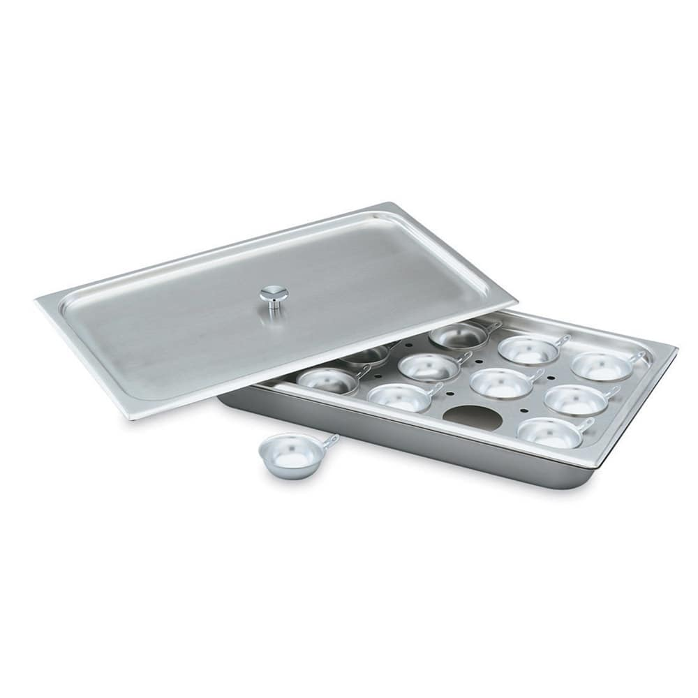 Vollrath 75072 Egg Poacher Plate - 1/2 Size, 8 Hole, Stainless