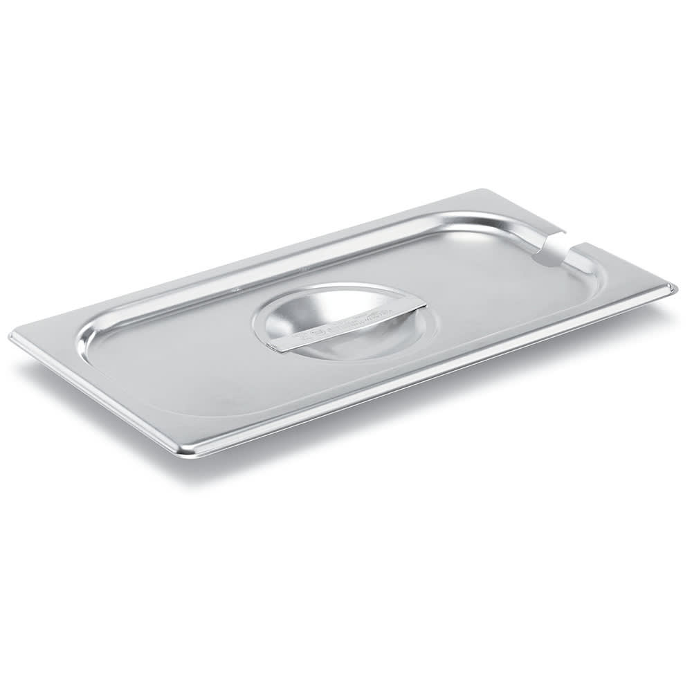 Vollrath 75230 Third-Size Steam Pan Cover, Stainless