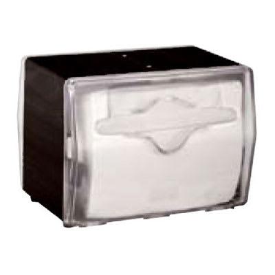 Vollrath 7545-06 Napkin Dispenser - Table Type, Clear Face, Black