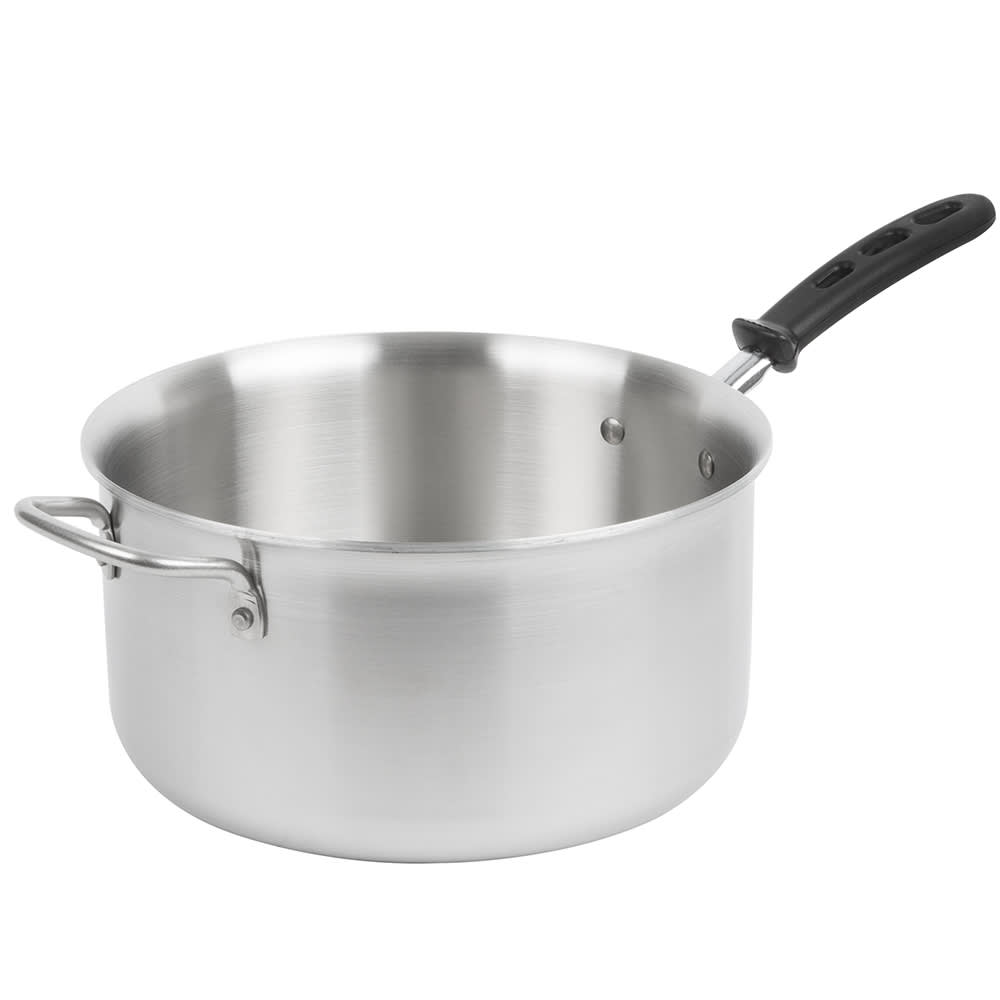 Vollrath 77743 7 qt Stainless Steel Saucepan w/ Vented Silicone Handle