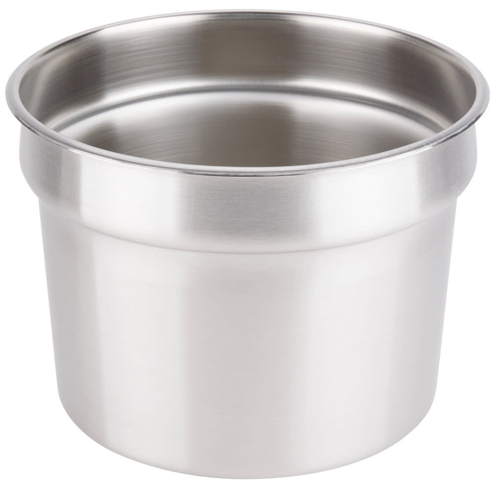 "Vollrath 78204 11-qt Vegetable Inset - Fits 10-1/2"" Opening, Stainless"