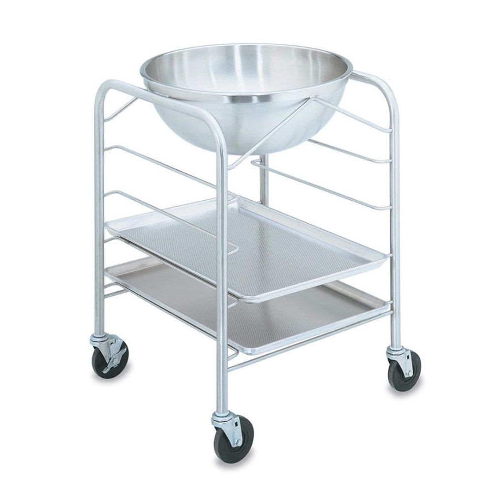 Vollrath 79302 30 qt Mixing Bowl with Stand and Tray Slides - Stainless
