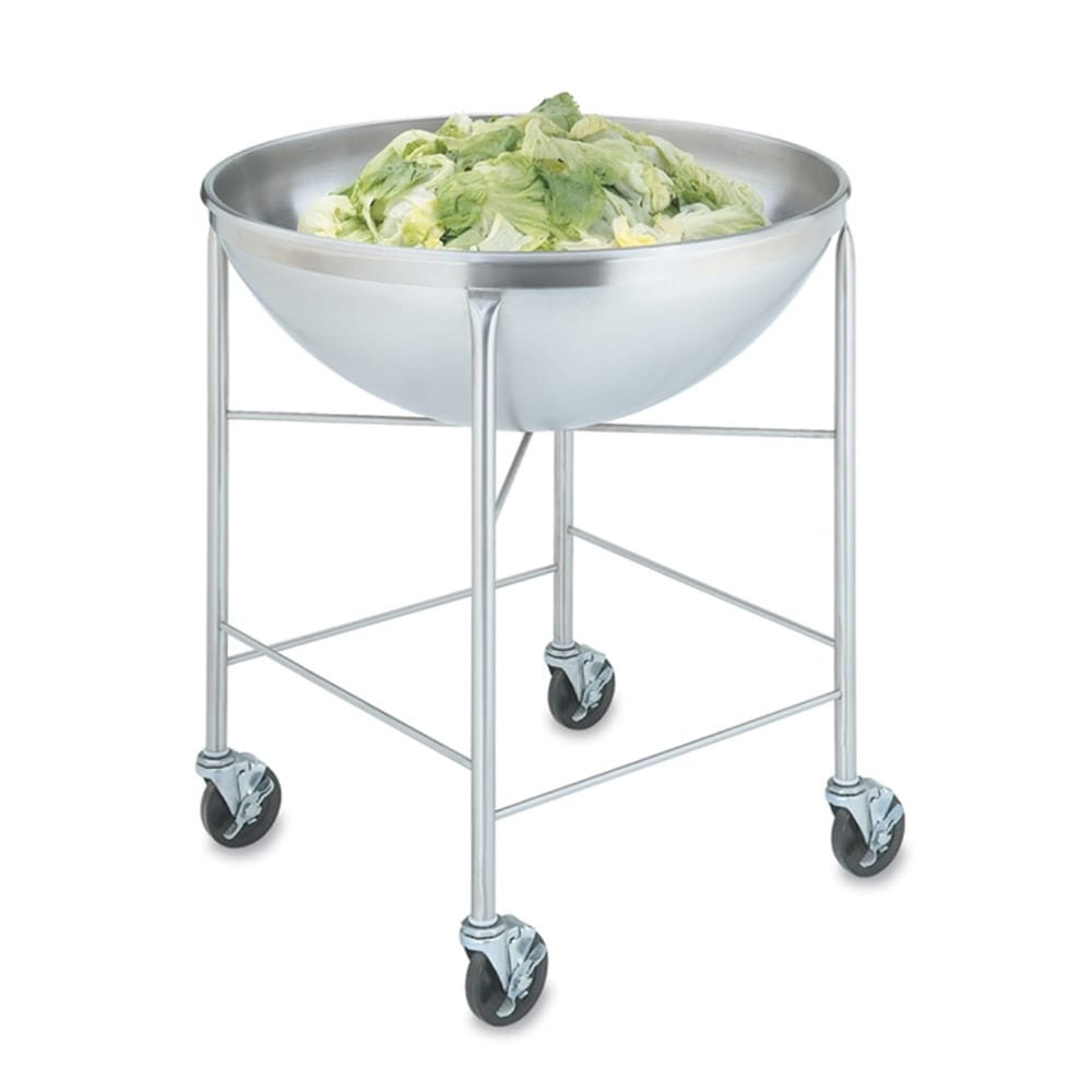 "Vollrath 79818 80 qt Mixing Bowl with Stand - 30 1/8x32 3/8x32 1/2"" Stainless"
