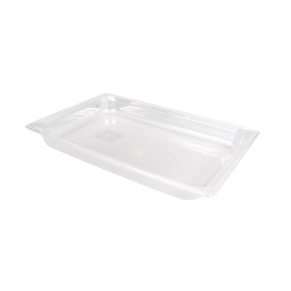 """Vollrath 8002410 Full-Size Food Pan - 2 1/2"""" Deep, Low-Temp, Clear Poly"""