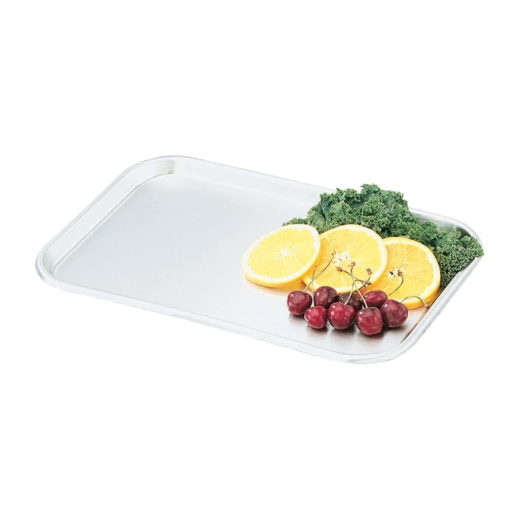 "Vollrath 80150 Rectangular Serving/Display Tray - 15-1/5x10-1/2x5/8"" Stainless"