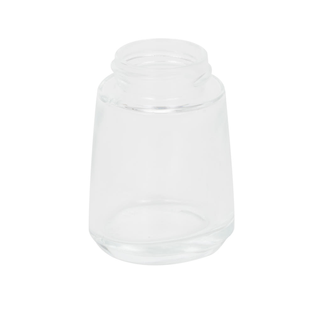 Vollrath 802J-12 2 oz Salt/Pepper Shaker Replacement Jar - Round Bottom, Glass