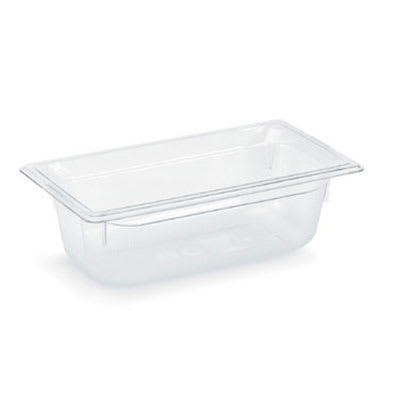 "Vollrath 8034410 1/3 Size Food Pan - 4"" Deep, Low-Temp, Clear Poly"
