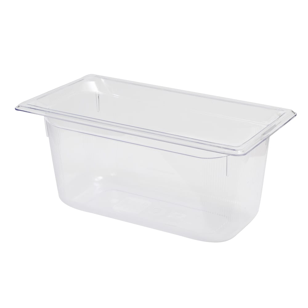 """Vollrath 8036410 1/3 Size Food Pan - 6"""" Deep, Low-Temp, Clear Poly"""