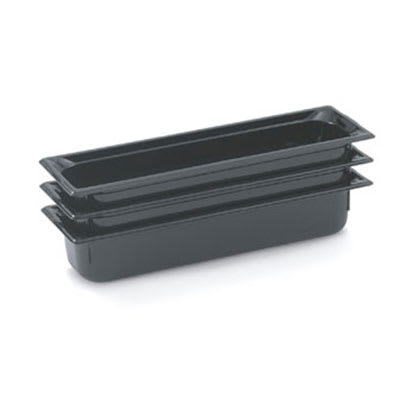 "Vollrath 8052420 Half-Size Long Food Pan - 2-1/2"" Deep, Low-Temp, Black Poly"