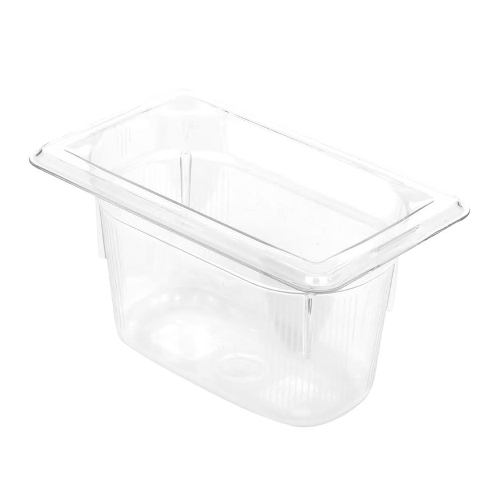 """Vollrath 8094410 1/9 Size Food Pan - 4"""" Deep, Low-Temp, Clear Poly"""