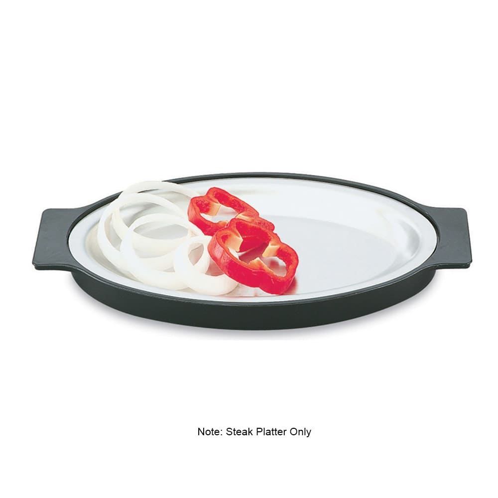 """Vollrath 81180 Replacement Oval Steak Platter - 7-3/4x11-3/4"""" Stainless"""
