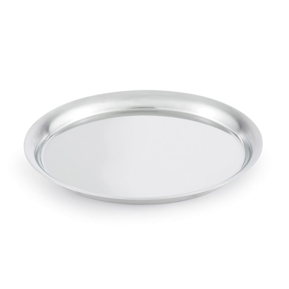 """Vollrath 82008 11-3/16"""" Round Tray Cover - 18-ga Stainless"""