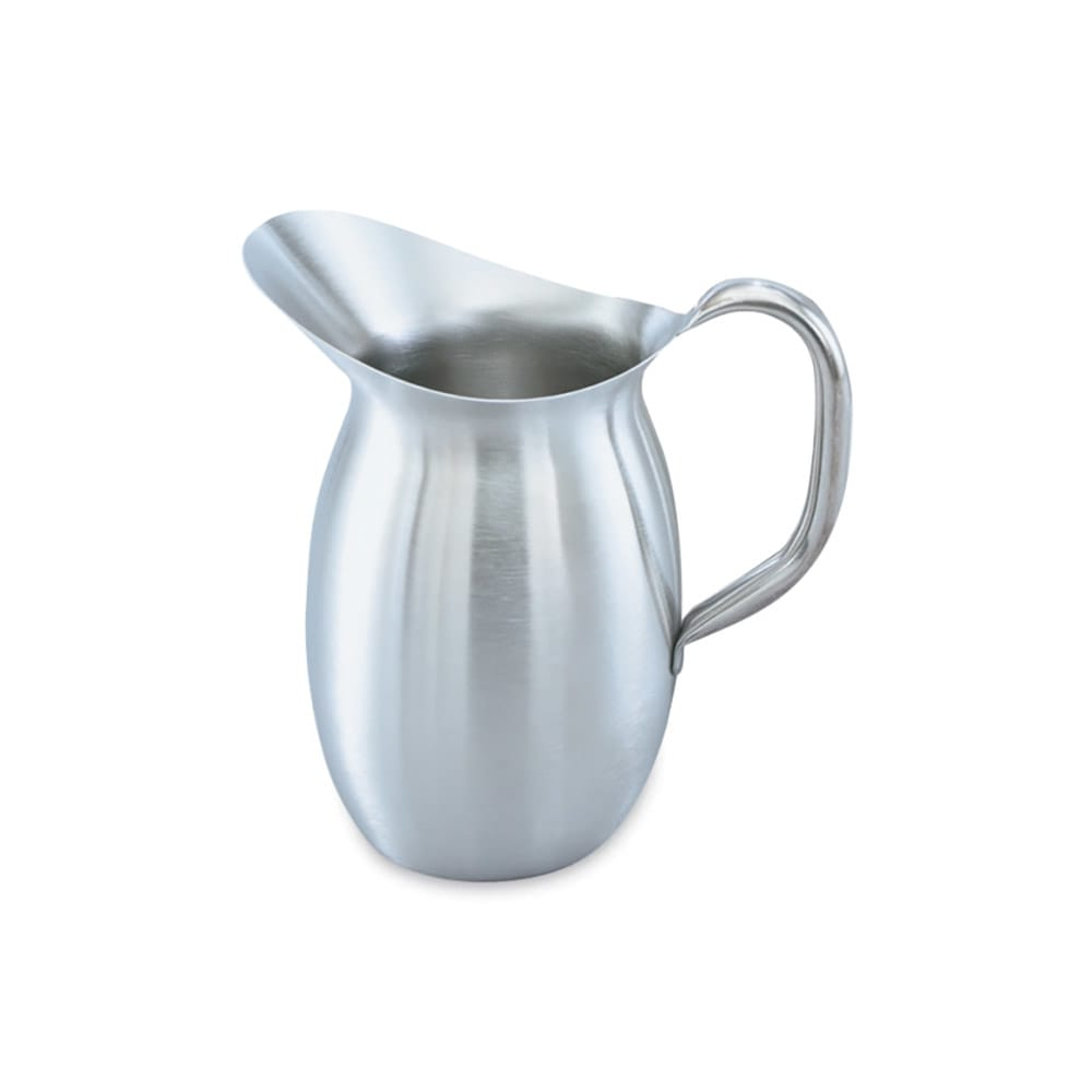 Vollrath 82030 3 1/8 qt Bell-Shaped Pitcher - Stainless