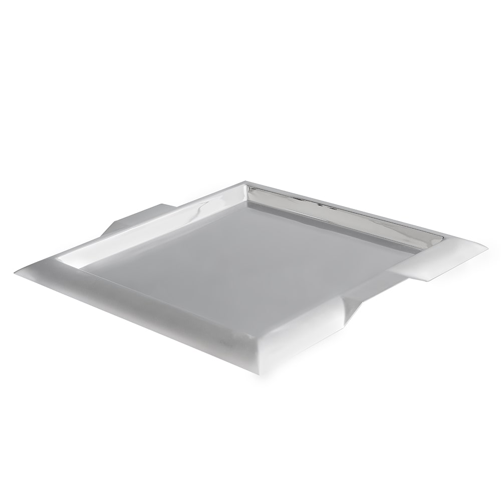 "Vollrath 82091 15 3/4"" Square Serving Tray - Handles, Stainless"