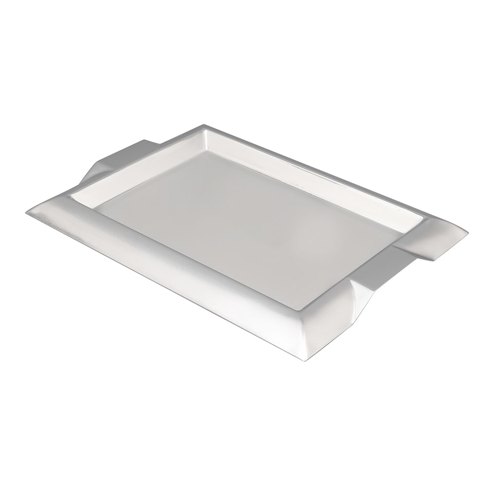 "Vollrath 82093 Rectangular Serving Tray with Handles - 12x9"" Stainless"