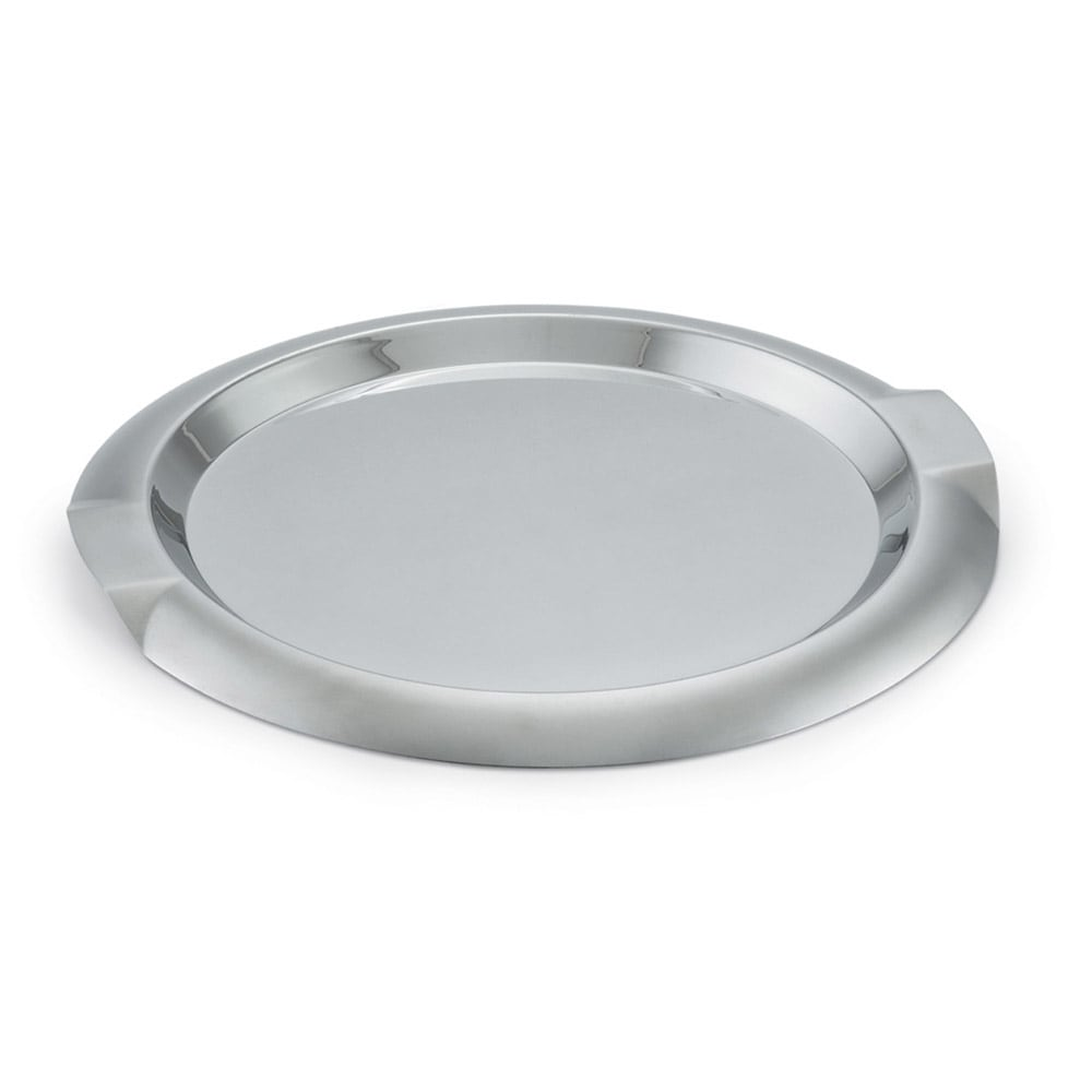 "Vollrath 82096 12"" Round Serving Tray - Stainless"