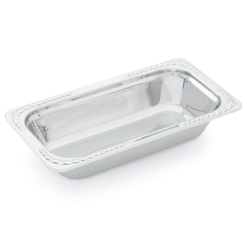 "Vollrath 8231120 1.9-qt Decorative 1/3 Size Rectangular Pan - 13-1/16x7x2-1/2"" Stainless"