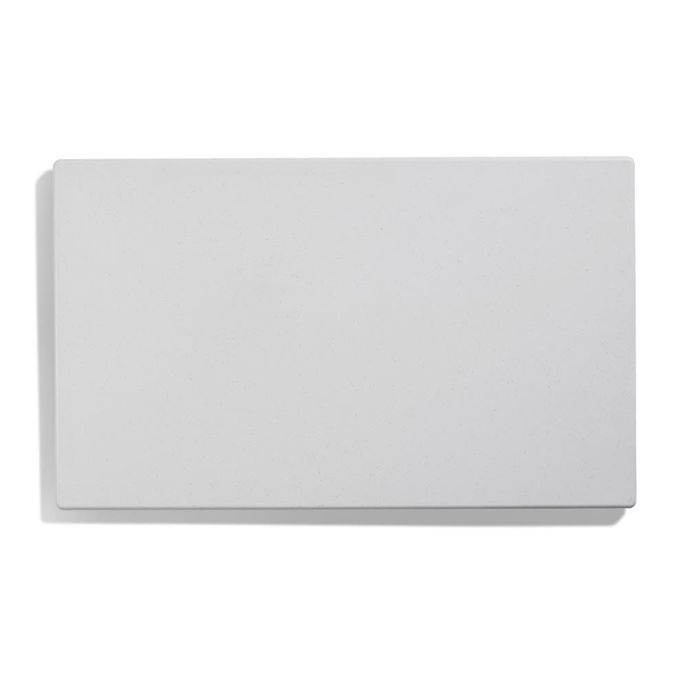 "Vollrath 8240020 Blank Miramar Solid Template - 12x20"" White Stone"