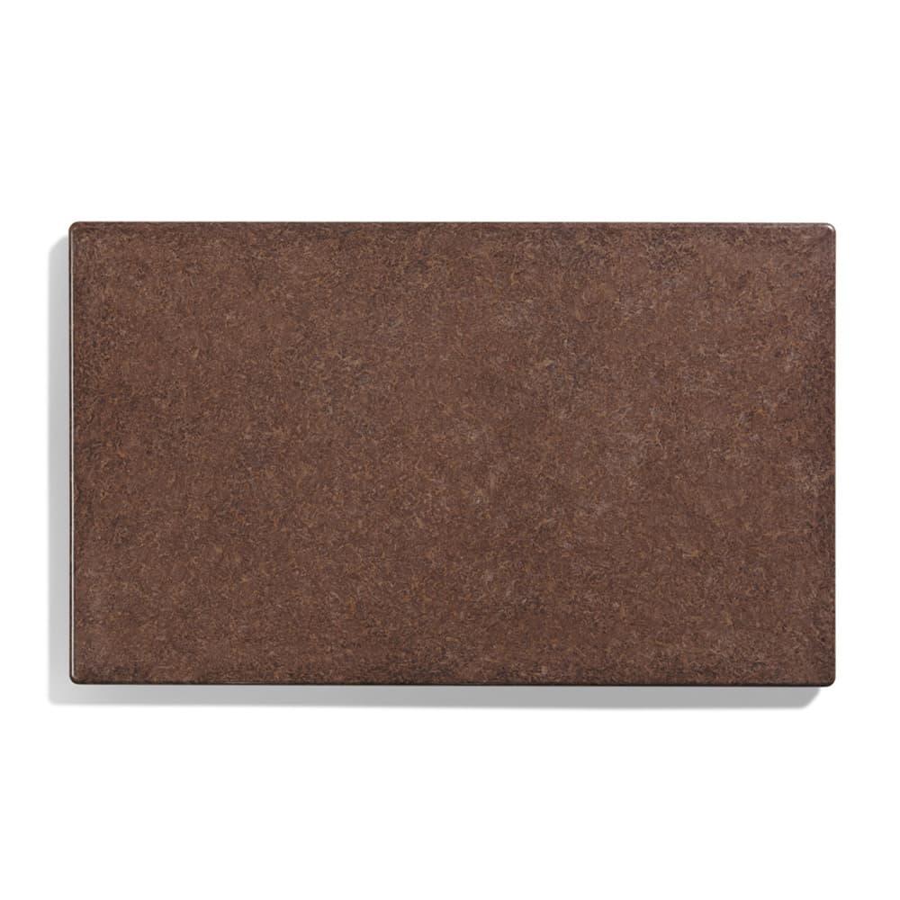 "Vollrath 8240022 Blank Miramar Solid Template - 12x20"" Brown Granite"