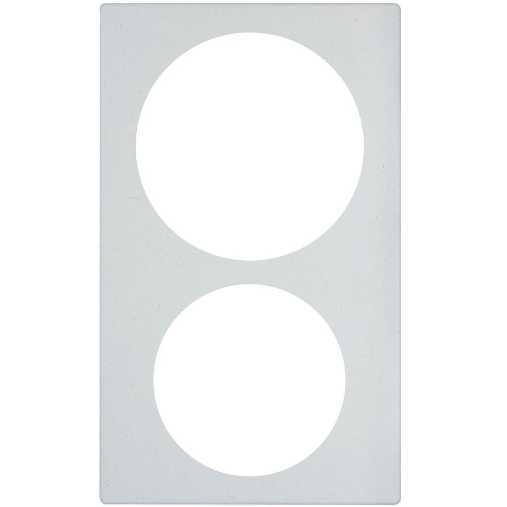 "Vollrath 8242020 Miramar Template - For (1) 5 qt & (1) 3 qt Casserole, 21.13"" x 12.75"", White Stone"