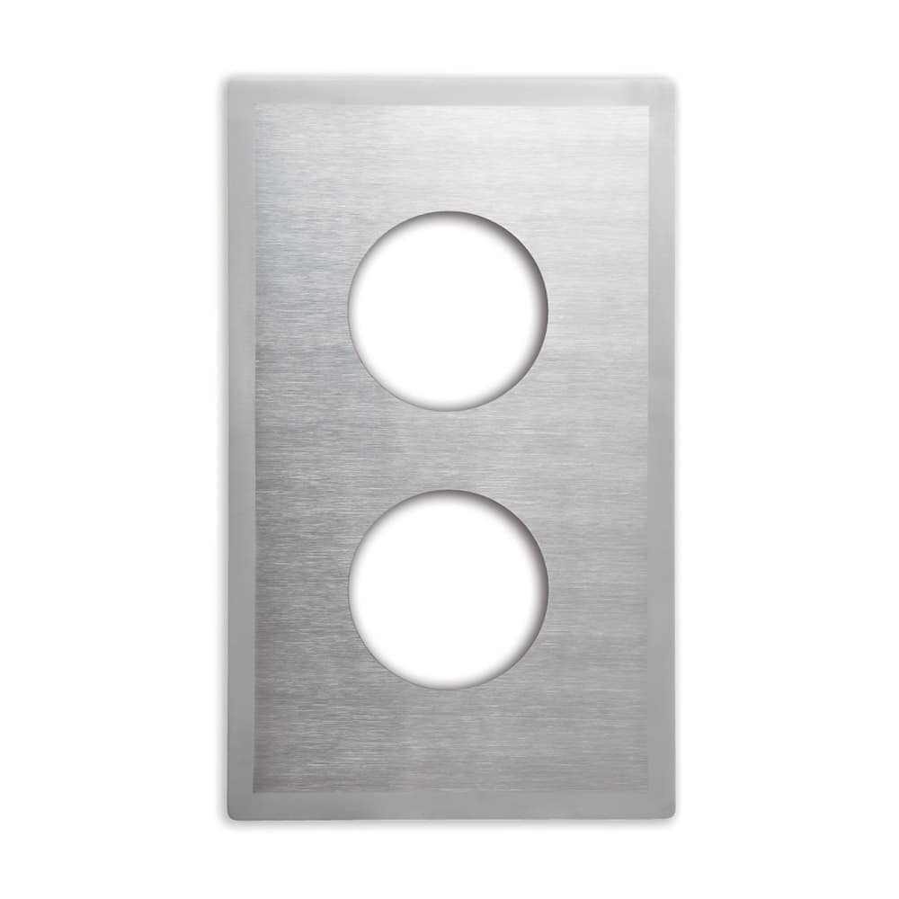 Vollrath 8242216 Miramar Single-Size Template - (2)1-qt Butter Warmer, Satin-Edge Stainless