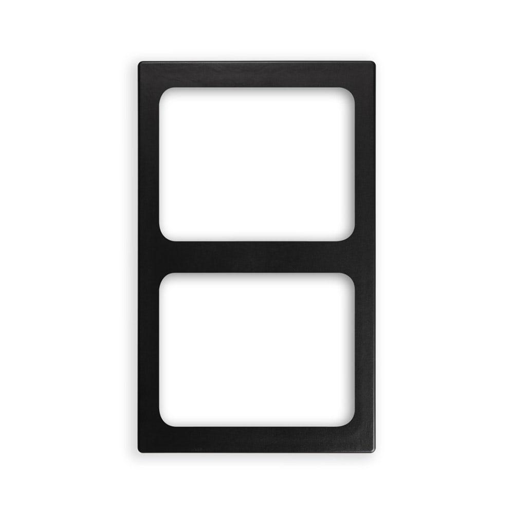 "Vollrath 8244118 Miramar (2)Half-Size Pan Template - 12x20"" Black"