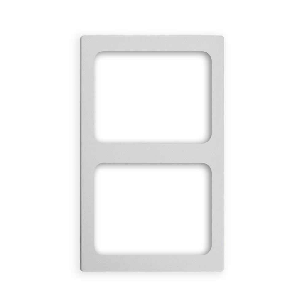 "Vollrath 8244120 Miramar (2)Half-Size Pan Template - 12x20"" White Stone"