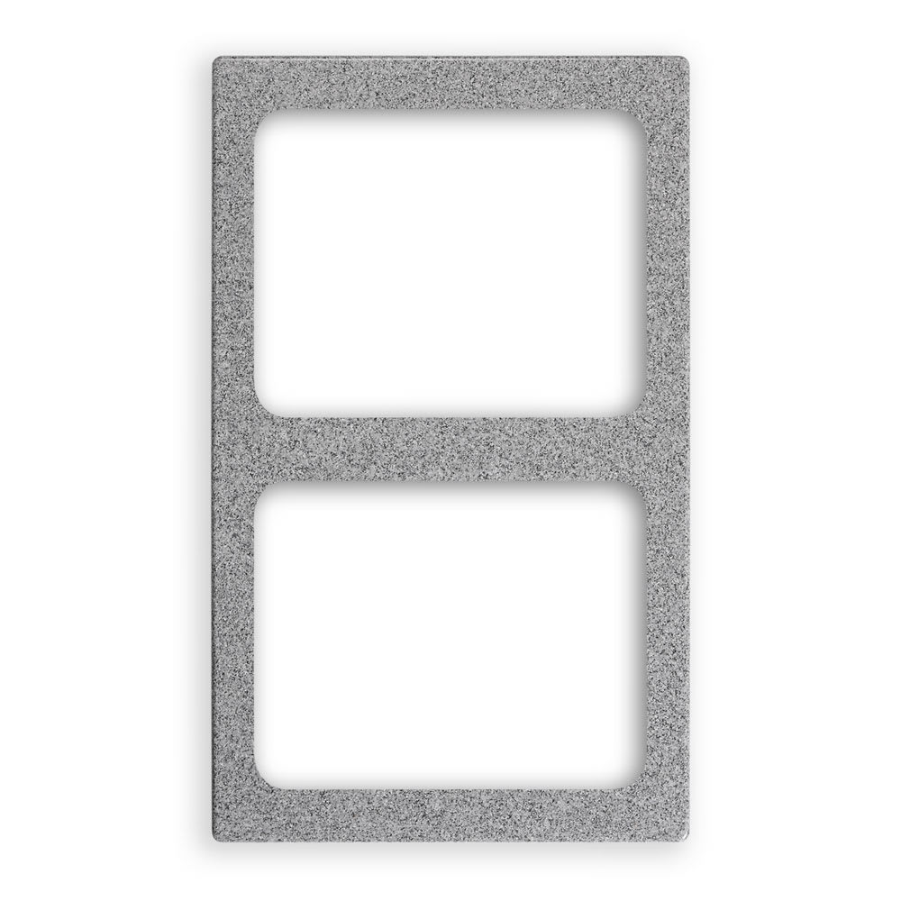 "Vollrath 8244124 Miramar Template - (2) Decorative Pans, 12x20"" Gray Granite"