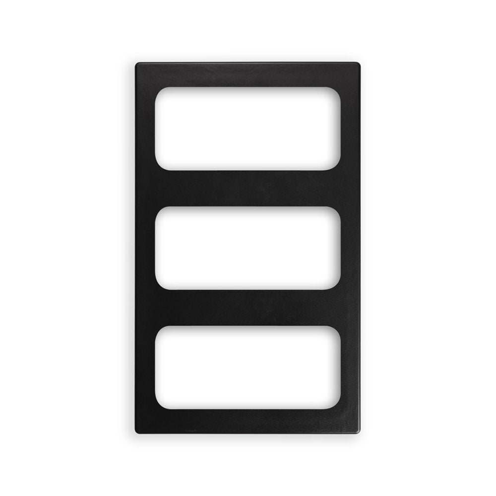 "Vollrath 8244218 Miramar (3)1/3-Size Pan Template - 12x20"" Black"