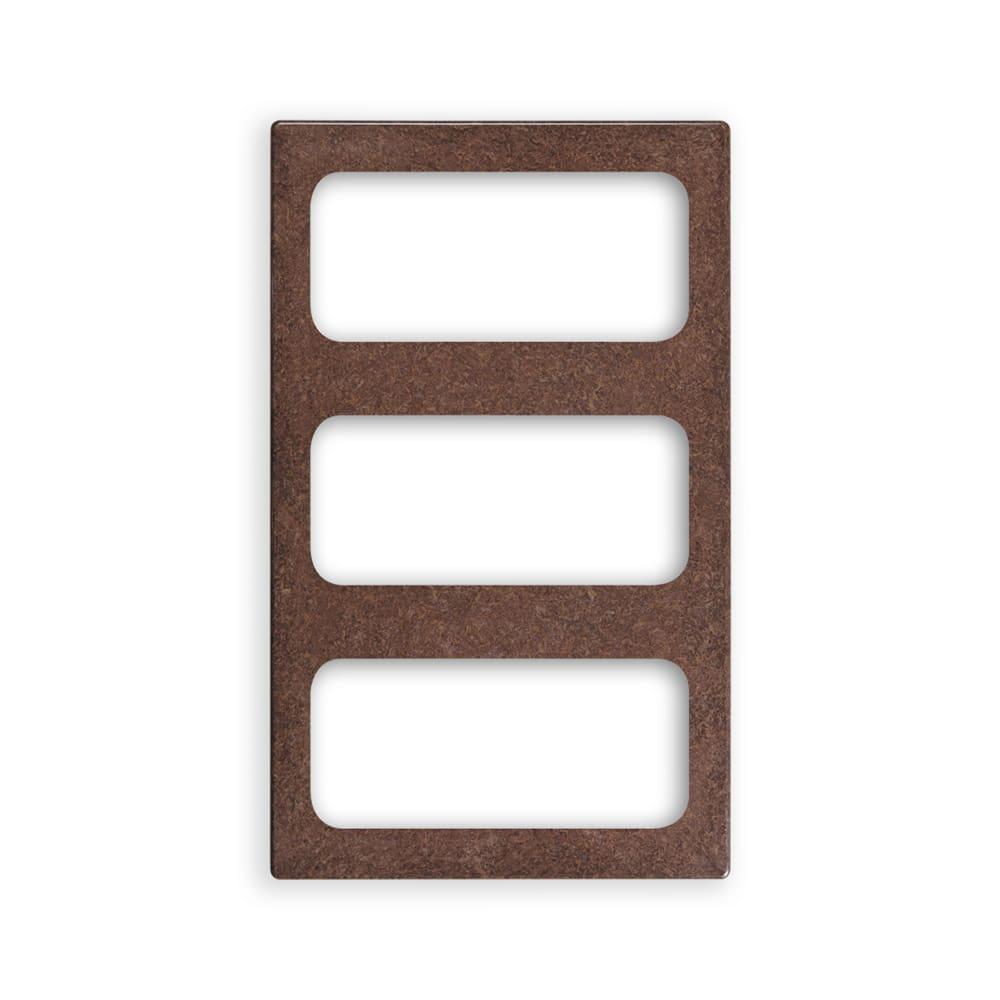 """Vollrath 8244222 Miramar (3)1/3-Size Pan Template - 12x20"""" Brown Granite"""