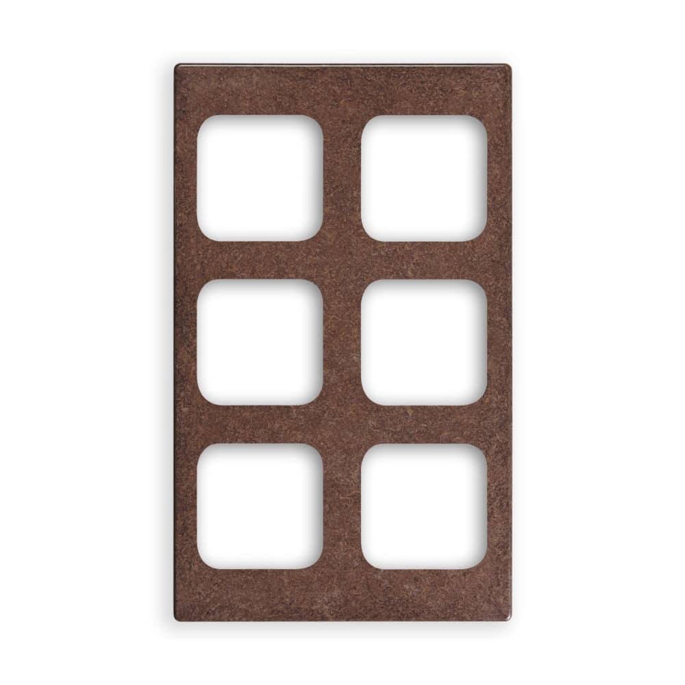 """Vollrath 8244322 Miramar (6)1/6-Size Pan Template - 12x20"""" Brown Granite"""