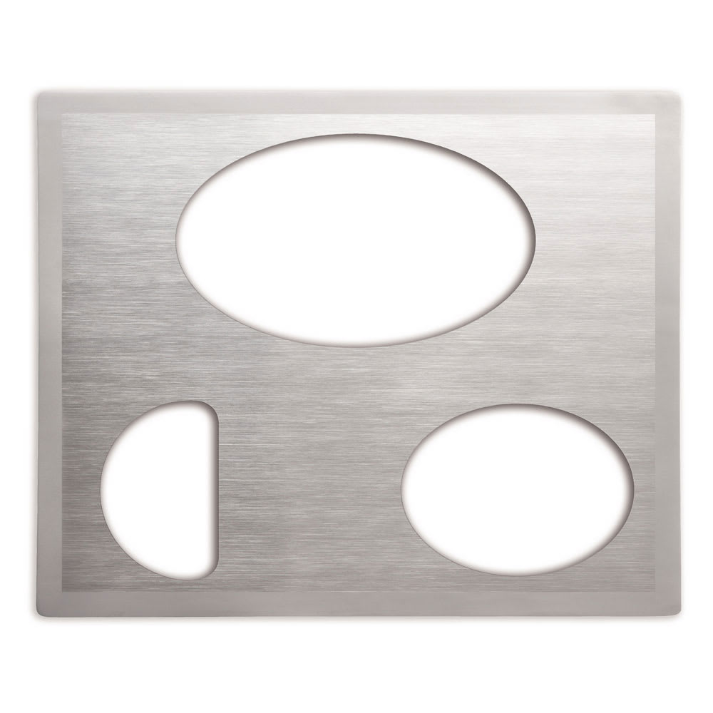 Vollrath 8250516 Miramar Double-Well Template - (1)Large Oval, (1)Small Oval, (1)1/2 Oval, Satin-Edge