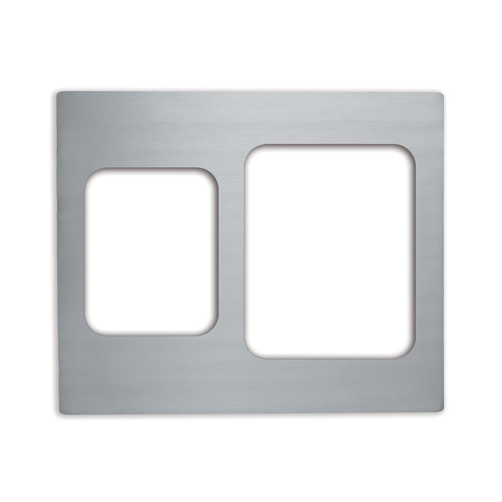 Vollrath 8250814 Miramar Double-Well Template - (1) Large and (1) Small Food Pan, Stainless