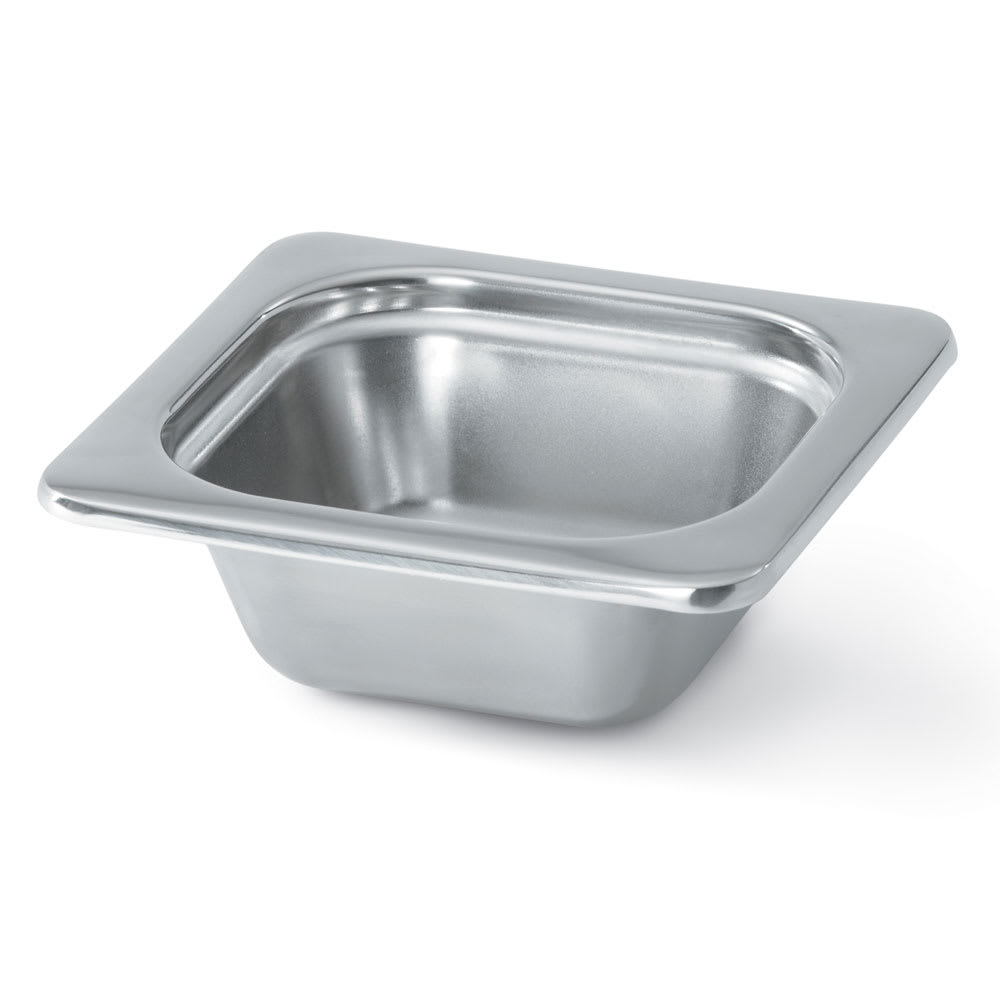 "Vollrath 8262205 Miramar 1/6 Size Foodpan - 2 1/2"" Deep, Mirror-Finish Stainless"