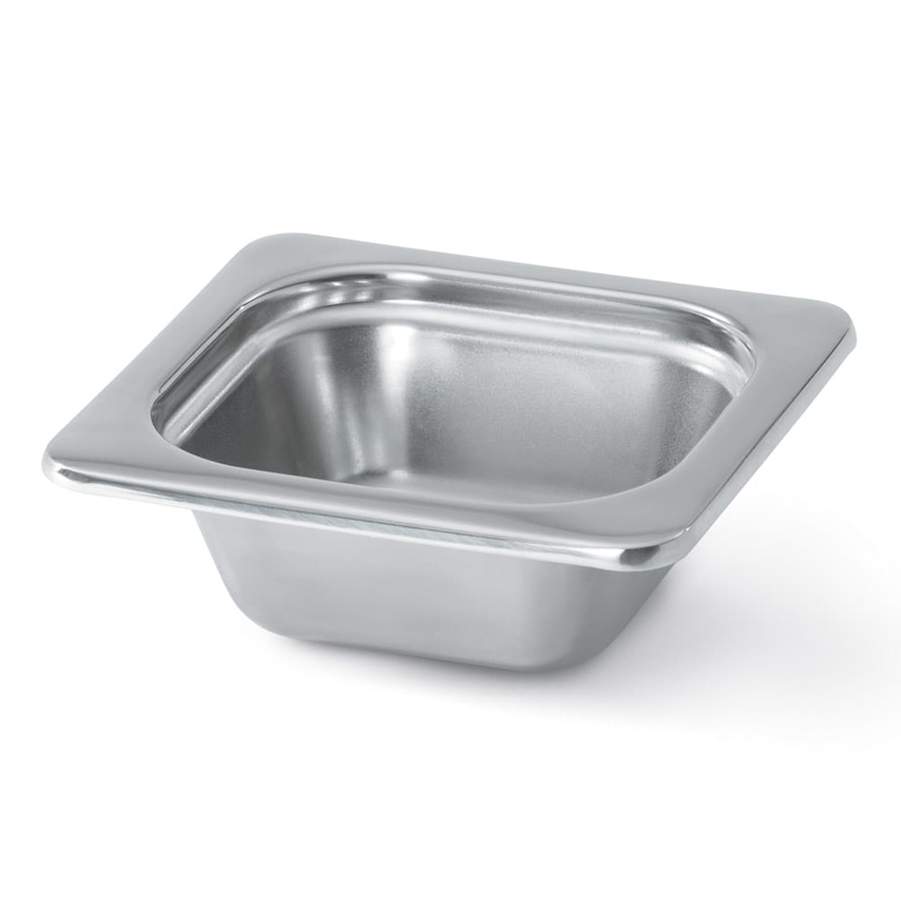 "Vollrath 8264205 Miramar 1/6 Size Foodpan - 4"" Deep, Mirror-Finish Stainless"