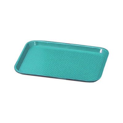 """Vollrath 86109 Fast Food Tray - 10x14"""" Teal Poly"""