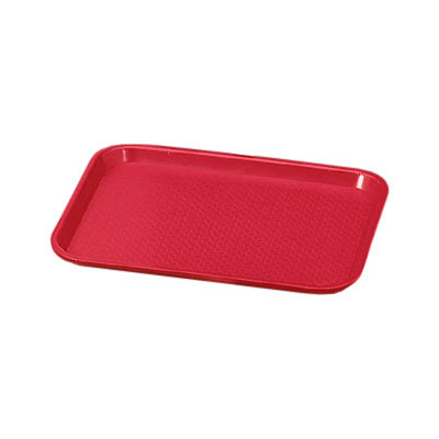 "Vollrath 86110 Fast Food Tray - 12x16"" Red Poly"